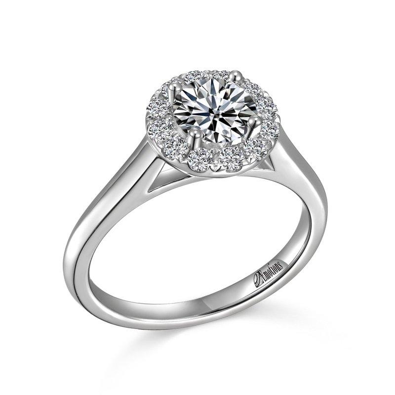 Showcase Collection 14KW Semi Set Halo Engagement Ring