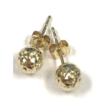 10KY Diamond Cut Stud Earrings