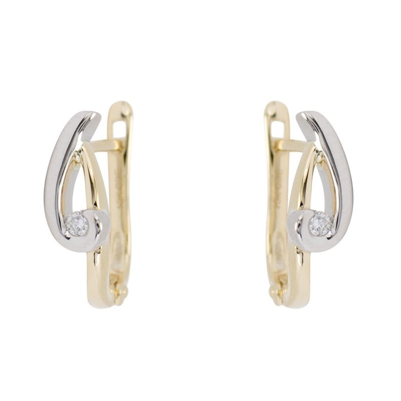 Showcase Collection 10K Two Tone Earrings