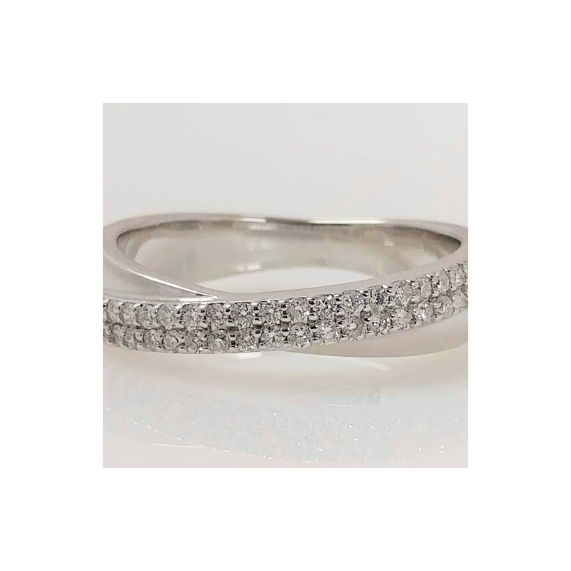 Showcase Collection 14KW Crossover Diamond Ring