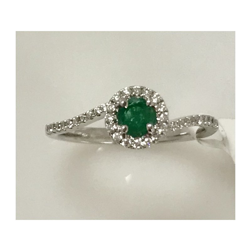 Showcase Collection Emerald and Diamond Ring