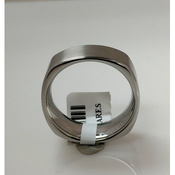 Vitalium Square Satin Finish Ring