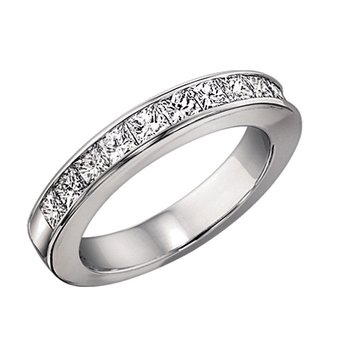 1/2 ctw Princess Cut Diamond Band in 14K White Gold/DPB12B