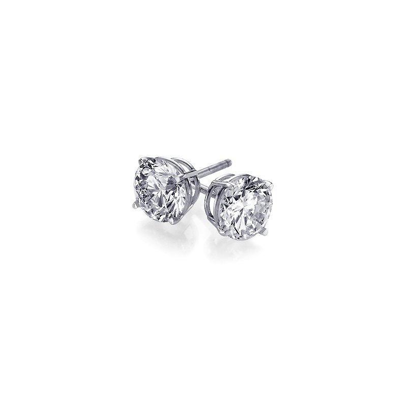 Grandis Signature 14K White Gold 0.54 Carat Total Weight SI2 E/F Diamond  Stud Earrings GJ2134900038