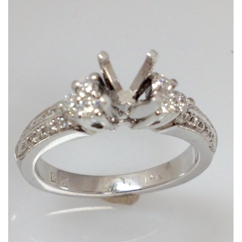 Showcase Collection 14KW Semi Set Engagement Ring
