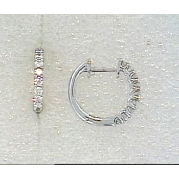 18KW Diamond Huggy Hoop Earrings
