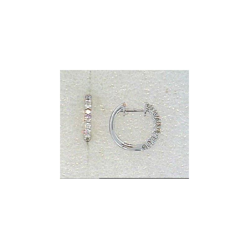 Showcase Collection 18KW Diamond Huggy Hoop Earrings
