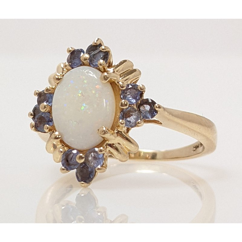 Estate Specials Opal and Tanzanite Ring
