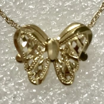 "14k Butterfly slide with 18"" chain"