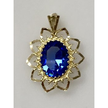 10KY Synthetic Sapphire Pendant