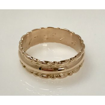 18KR 7mm Patterned Band