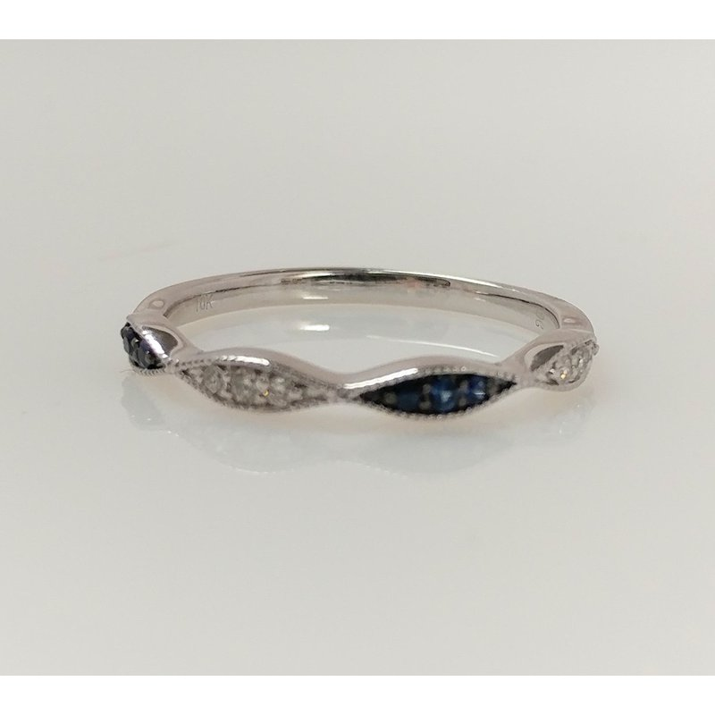 Showcase Collection Sapphire and Diamond Fashion Ring