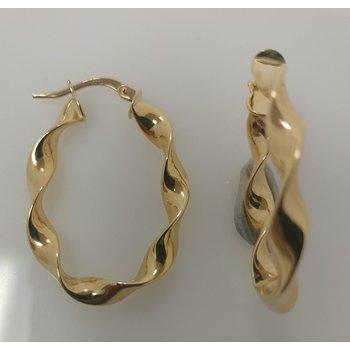 14KY Twisted Hoop Earrings