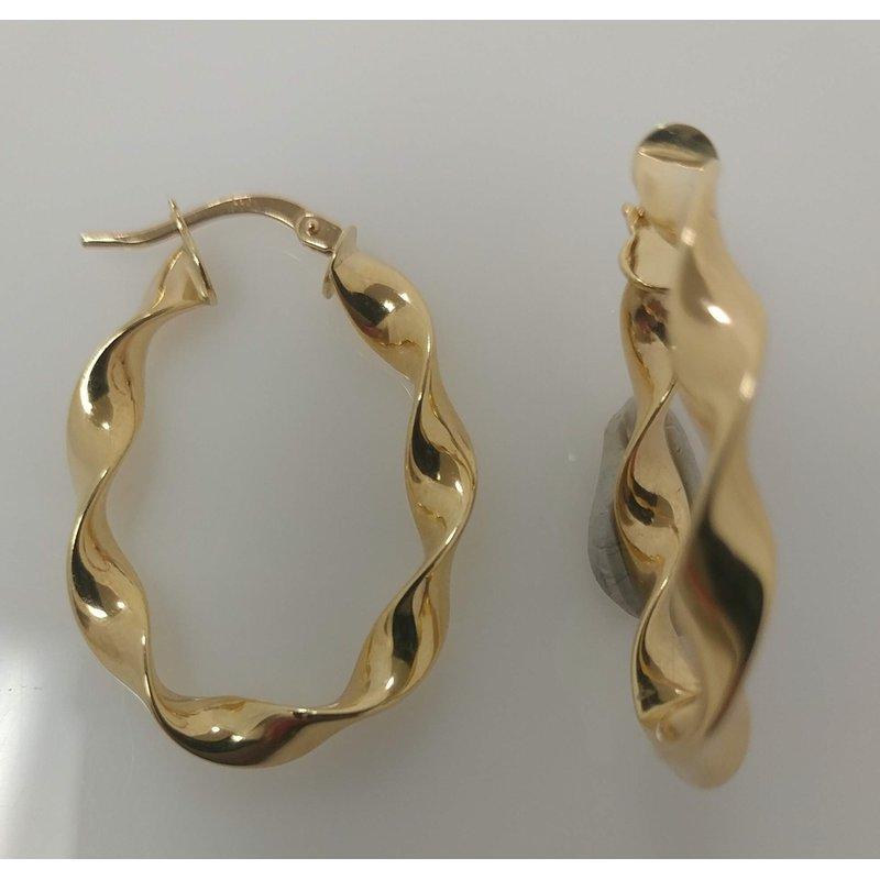 Estate Specials 14KY Twisted Hoop Earrings