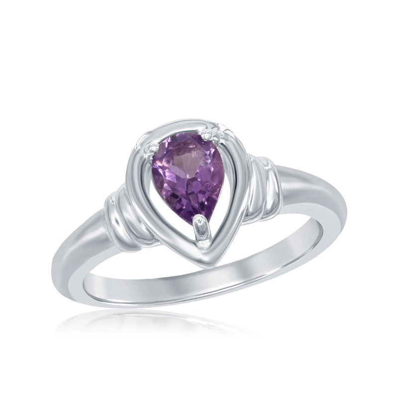 Showcase Collection Sterling Silver Ring with Amethyst