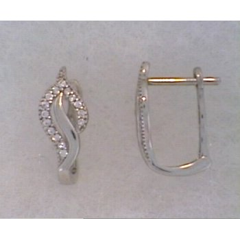 10KW Freeform Earrings with CZ