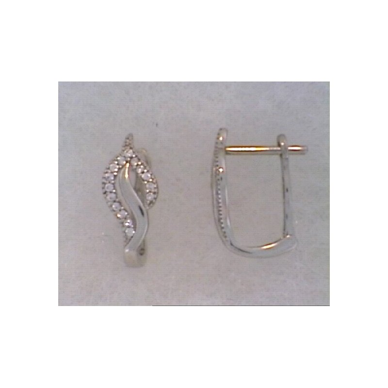 Showcase Collection 10KW Freeform Earrings with CZ