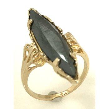 10KY Hematite Ring