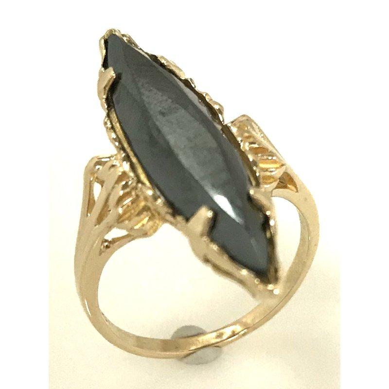 Estate Specials 10KY Hematite Ring