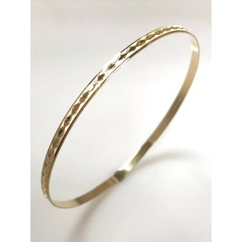 10KY Diamond Cut Bangle