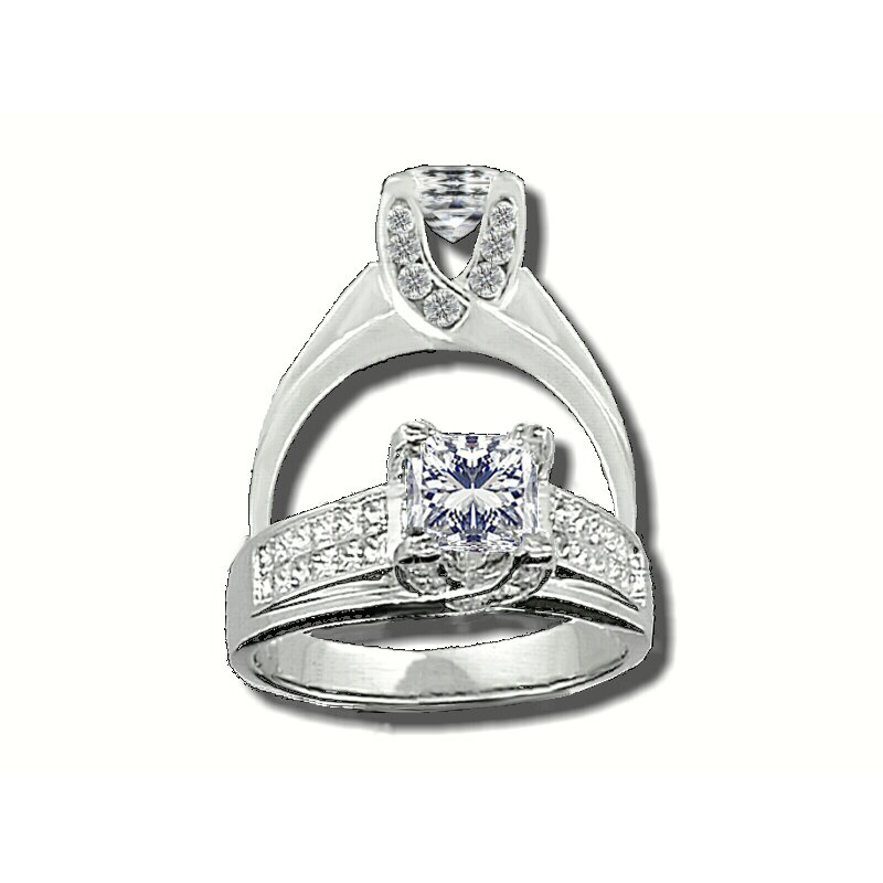 Showcase Collection 14KW Semi Set Engagement Ring
