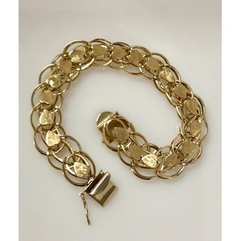 10k Gold Charm Bracelet with hearts