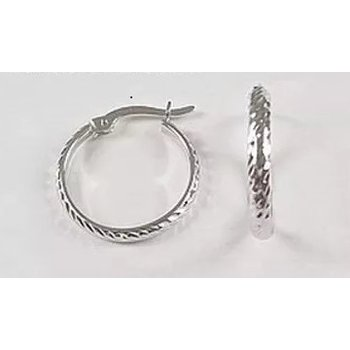 10KW Diamond Cut Hoop Earrings