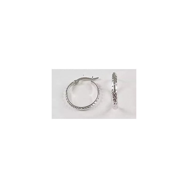 Showcase Collection 10KW Diamond Cut Hoop Earrings