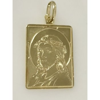 14KY Christ Medallion