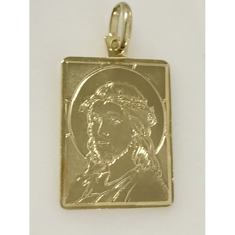 Estate Specials 14KY Christ Medallion