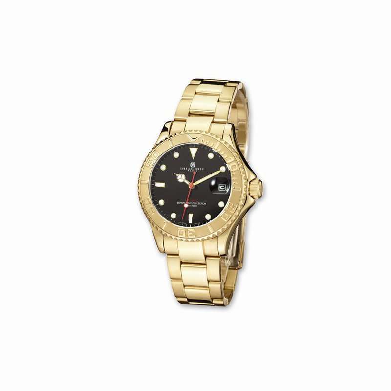 Charles Hubert IP Gold Plated Automatic Watch