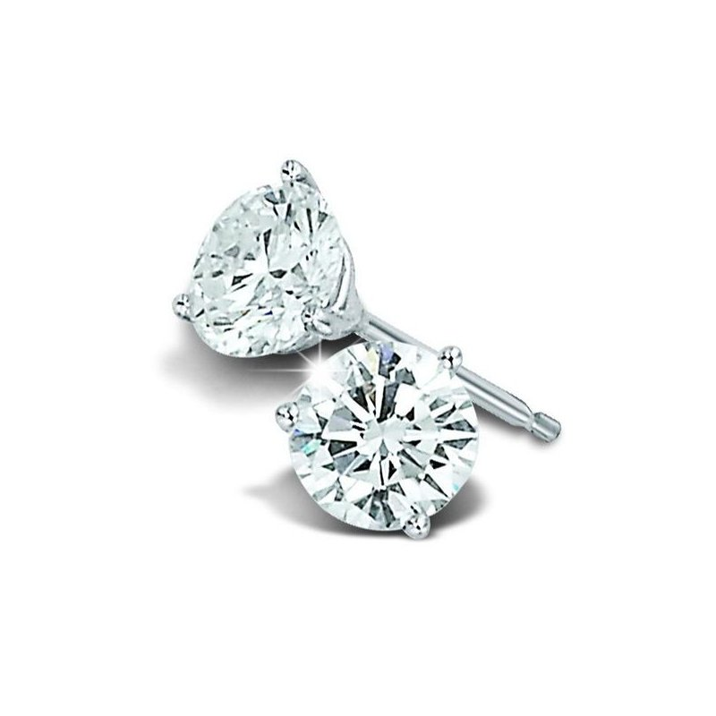 Showcase Collection 14KW Laboratory Grown Diamond Stud Earrings