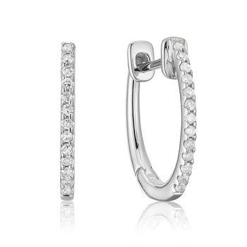 14KW Diamond Huggy Earrings