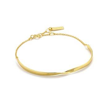 "14ky Plated Twist6.5-7.25"" Bracelet"