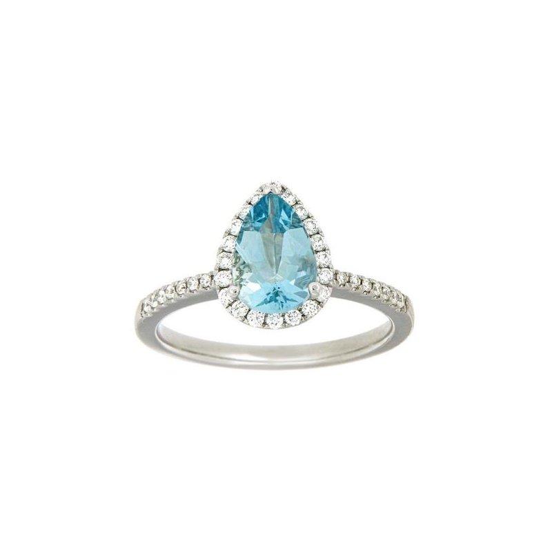 Showcase Collection Pear Shaped Aquamarine Ring