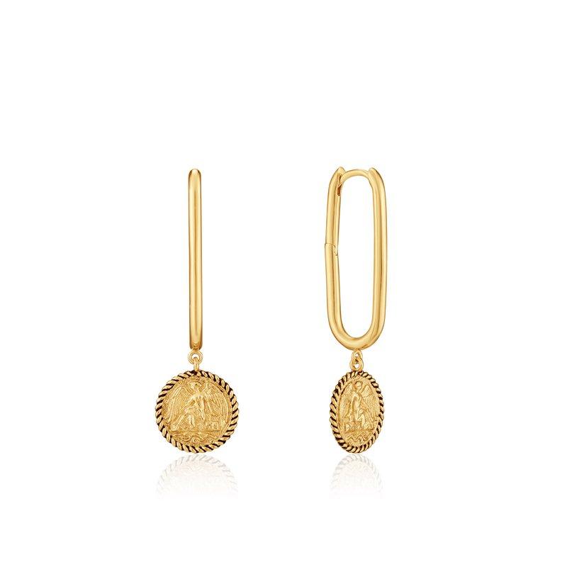 ANIA HAIE Gold Winged Goddess Hoop Earrings
