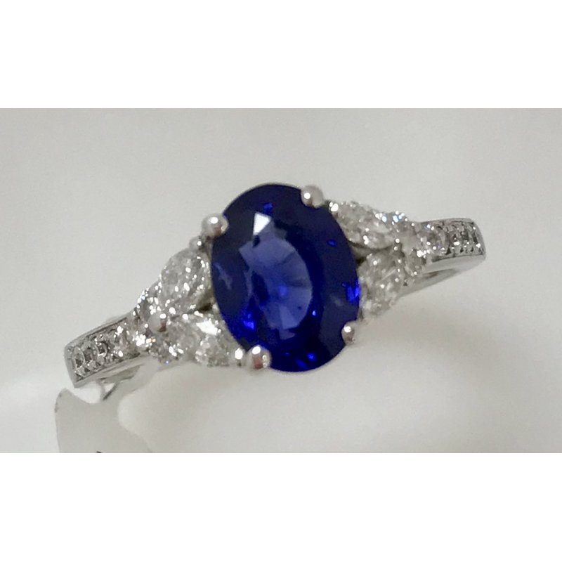 Showcase Collection Sapphire and Diamond Ring
