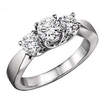Three Stone Diamond Ring 0.75 ctw