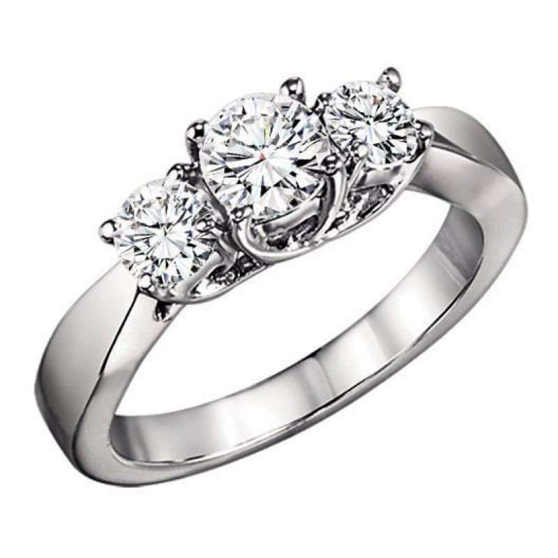 Grandis Signature Three Stone Diamond Ring 0.75 ctw