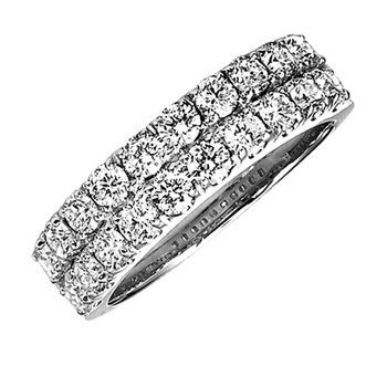 Diamond Band Ring in 14K White Gold 1.50 ctw HDR1467