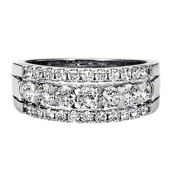 Diamond Wide Band Ring in 14K White Gold 1.00 ctw HDR1427