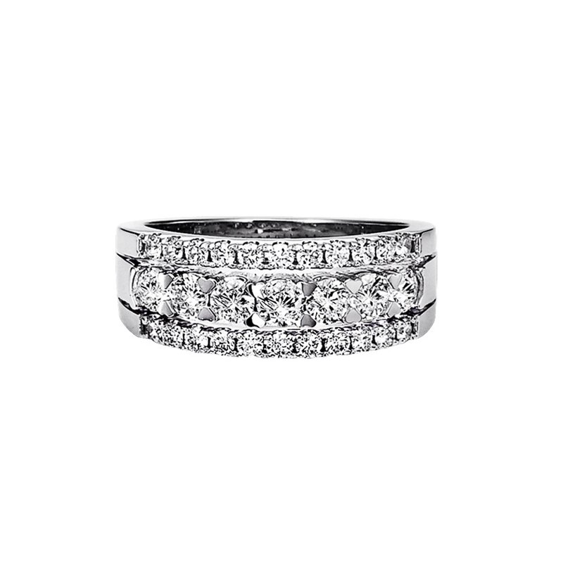 Grandis Signature Diamond Wide Band Ring in 14K White Gold 1.00 ctw HDR1427