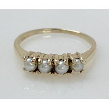 10KY Vintage Pearl Ring