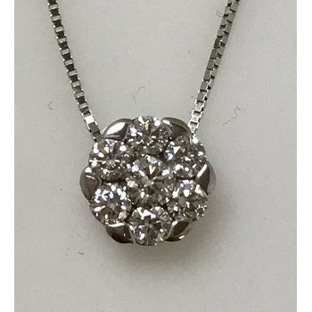 Diamond Flower Slide Pendant