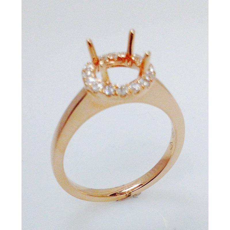 Showcase Collection 18KR Semi Set Halo Engagement Ring