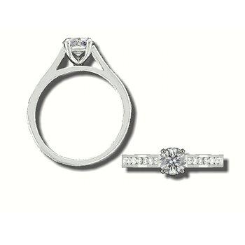 Grandis Diamond Solitaire Engagement Ring Mount 14K Prong Set 0.30 ctw GJRA902