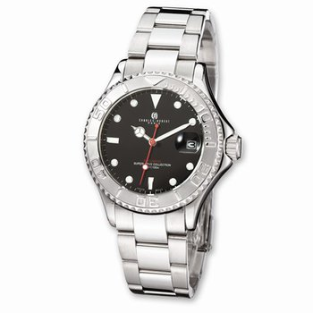 Stainless Steel Black Dial Automatic Watch
