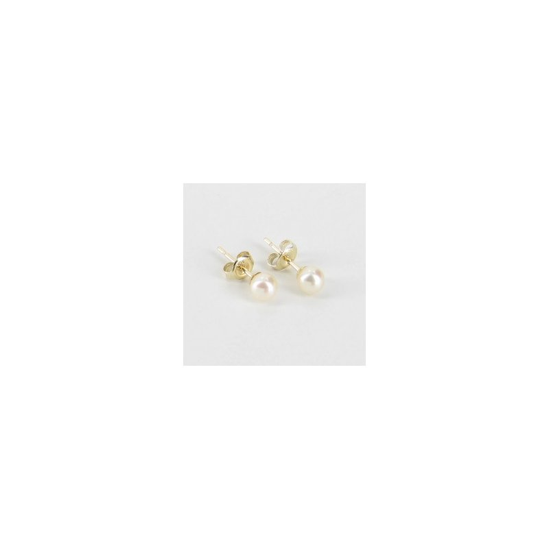 Showcase Collection 14KY Akoya Pearl Stud Earrings