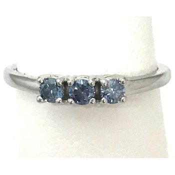 10KW Lab Grown Blue Diamond Ring