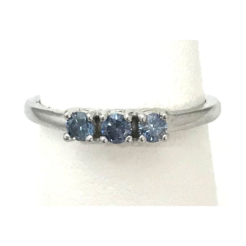 Showcase Collection 10KW Lab Grown Blue Diamond Ring